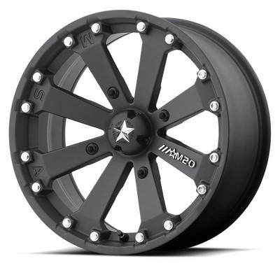 MSA M20 Kore UTV Wheel 14X7 4X137 Satin Black M20-04737