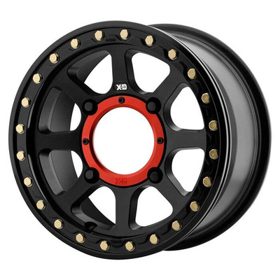 KMC XS234 Addict 2 Beadlock UTV Wheel 15X6 4X156 Satin Black XS23456044738