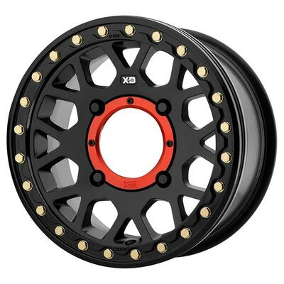 KMC XS235 Grenade Beadlock UTV Wheel 15X10 4X156 Satin Black XS23551044700