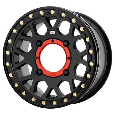KMC XS235 Grenade Beadlock UTV Wheel 15X6 4X137 Satin Black XS23556048738