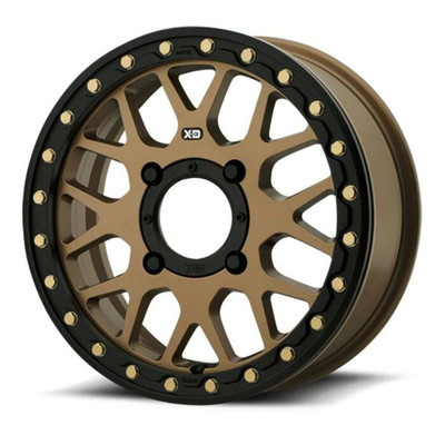 KMC XS235 Grenade Beadlock UTV Wheel 15X6 4X156 Satin Bronze XS23556044638