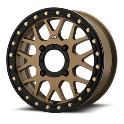 KMC XS235 Grenade Beadlock UTV Wheel 15X6 4X137 Satin Bronze XS23556048638
