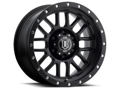 Icon Alloys Alpha 17 Inch Wheel 6x135 5 / 6 Satin Black 1217856350SB