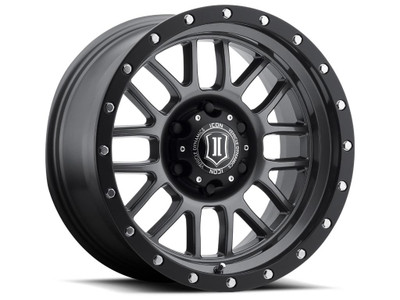 Icon Alloys Alpha 17 Inch Wheel 5x5 4.75 / 0 Gun Metal 1217857347GM