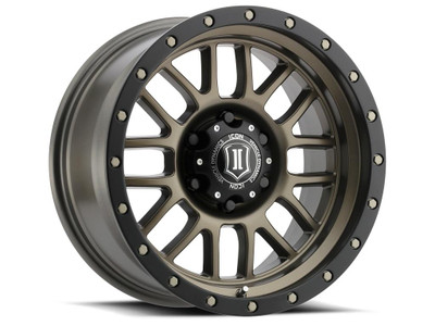 Icon Alloys Alpha 17 Inch Wheel 6x5.5 4.75 / 0 Bronze 1217858347BR