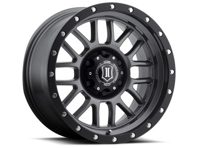 Icon Alloys Alpha 17 Inch Wheel 6x5.5 4.75 / 0 Gun Metal 1217858347GM