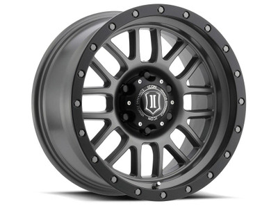 Icon Alloys Alpha 17 Inch Wheel 6x5.5 4.75 / 0 Titanium 1217858347TT