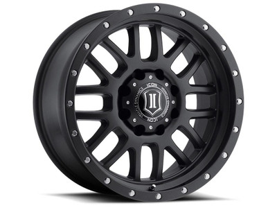 Icon Alloys Alpha 20 Inch Wheel 5x150 5.625 / 16 Satin Black 1220905556SB