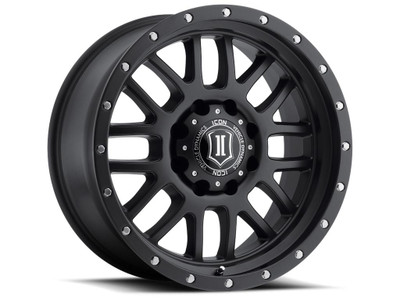 Icon Alloys Alpha 20 Inch Wheel 8x6.5 5.75 / 19 Satin Black 1220908057SB