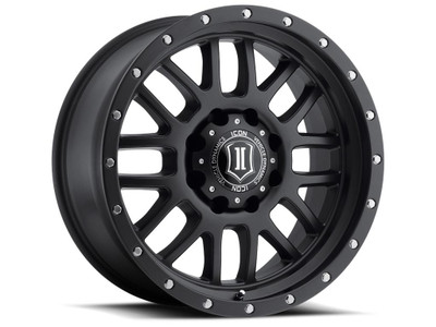 Icon Alloys Alpha 20 Inch Wheel 8x180 5.5 / 12 Satin Black 1220908955SB