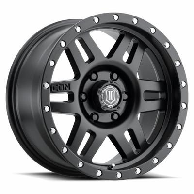 Icon Alloys Six Speed 17 Inch Wheel 6x5.5 5.75 / 25 Satin Black 1417858357SB