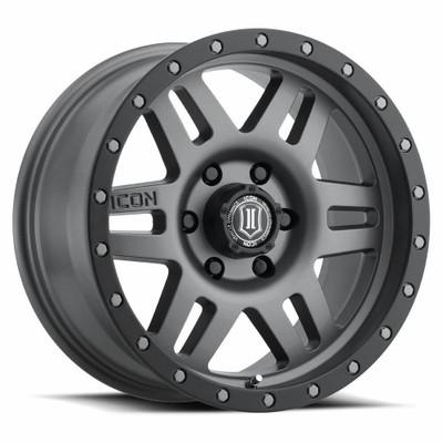 Icon Alloys Six Speed 17 Inch Wheel 6x5.5 5.75 / 25 Titanium 1417858357TT