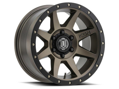 Icon Alloys Rebound 17 Inch Wheel 5x150 5.75 / 25 Bronze 1817855557BR