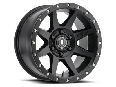 Icon Alloys Rebound 17 Inch Wheel 5x150 5.75 / 25 Satin Black 1817855557SB