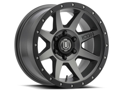 Icon Alloys Rebound 17 Inch Wheel 5x150 5.75 / 25 Titanium 1817855557TT