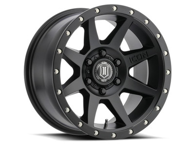 Icon Alloys Rebound 17 Inch Wheel 5x5 4.5 / 6 Satin Black 1817857345SB