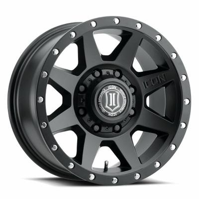Icon Alloys Rebound 17 Inch Wheel 8x6.5 5.25 / 13 Satin Black 1817858052SB