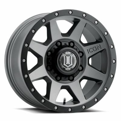 Icon Alloys Rebound 17 Inch Wheel 8x6.5 5.25 / 13 Titanium 1817858052TT