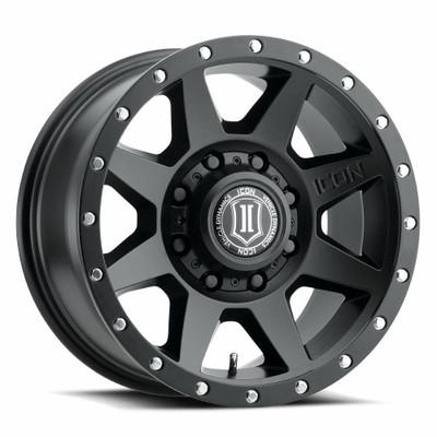 Icon Alloys Rebound 17 Inch Wheel 8x170 5 / 6 Satin Black 1817858150SB