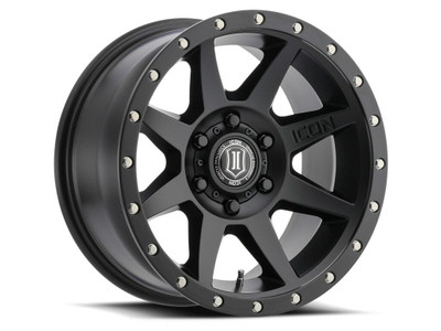 Icon Alloys Rebound 17 Inch Wheel 6x5.5 4.75 / 0 Satin Black 1817858347SB
