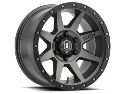Icon Alloys Rebound 17 Inch Wheel 6x5.5 4.75 / 0 Titanium 1817858347TT