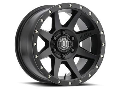 Icon Alloys Rebound 17 Inch Wheel 6x5.5 5.75 / 25 Satin Black 1817858357SB
