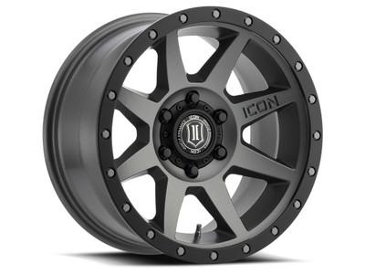 Icon Alloys Rebound 17 Inch Wheel 6x5.5 5.75 / 25 Titanium 1817858357TT