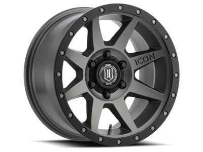 Icon Alloys Rebound 17 Inch Wheel 6x120 4.75 / 0 Titanium 1817859447TT