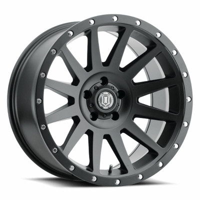 Icon Alloys Compression 20 Inch Wheel 5x5 5 / 12 Satin Black 2020107350SB