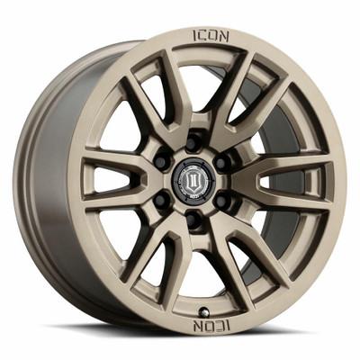 Icon Alloys Vector 6 17 Inch Wheel 6x5.5 4.75 / 0 Bronze 2417858347BR