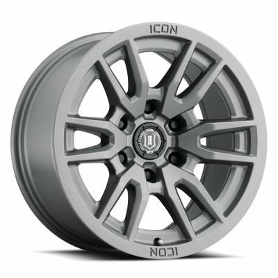 Icon Alloys Vector 6 17 Inch Wheel 6x5.5 4.75 / 0 Titanium 2417858347TT
