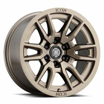 Icon Alloys Vector 6 17 Inch Wheel 6x5.5 5.75 / 25 Bronze 2417858357BR