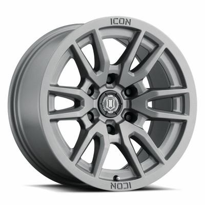Icon Alloys Vector 6 17 Inch Wheel 6x5.5 5.75 / 25 Titanium 2417858357TT