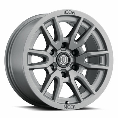 Icon Alloys Vector 6 17 Inch Wheel 6x120 4.75 / 0 Titanium 2417859447TT