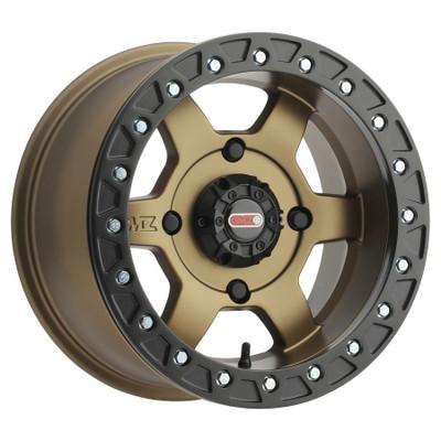 GMZ Casino Beadlock UTV Wheels 14X7 52 4X136 Bronze GZ80347047952B