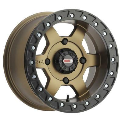 GMZ Casino Beadlock UTV Wheels 15X8 44 4X156 Bronze GZ80358046944B