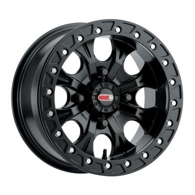 GMZ Gunslinger Beadlock UTV Wheels 15X7 43 4X156 Matte Black GZ80257046543B