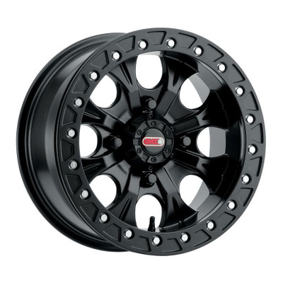 GMZ Gunslinger Beadlock UTV Wheels 15X7 43 4X110 Matte Black GZ80257040543B
