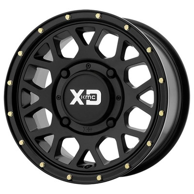 KMC XS135 Grenade UTV Wheel 14X74X156 Satin Black XS13547044738