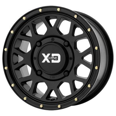 KMC XS135 Grenade UTV Wheel 15X6 4X137 Satin Black XS13556048738