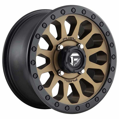 Fuel Offroad D600 Vector UTV Wheel 15X7 4X156 Matte Bronze Black Bead Ring D6001570A544
