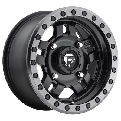 Fuel Offroad D557 Anza UTV Wheel 14X7 4X156 13 Matte Black Gun Metal Ring D5571470A544