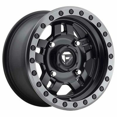 Fuel Offroad D557 Anza UTV Wheel 14X74X156 38 Matte Black Gun Metal Ring D5571470A554