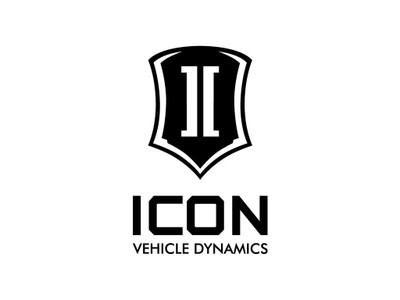 ICON Stack Logo Decal Black 6 Inch Tall STICKER-STACK 6 IN B