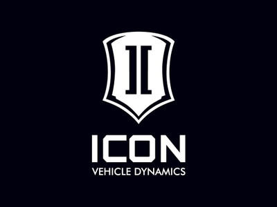 ICON Stack Logo Decal White 6 Inch Tall STICKER-STACK 6 IN W