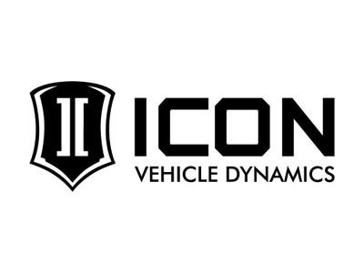 ICON Standard Logo Decal Black 12 Inch Wide STICKER-STD 12 IN B