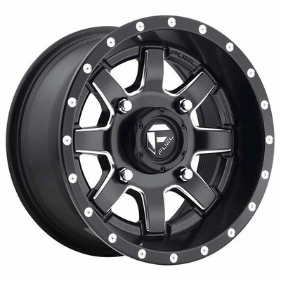 Fuel Offroad D538 Maverick UTV Wheel 15X7 4X137 Matte Black Milled D5381570A644