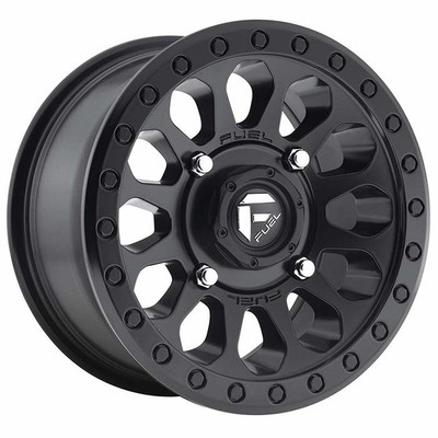 Fuel Offroad D579 Vector UTV Wheel 14X7 4X156 Matte Black D5791470A544