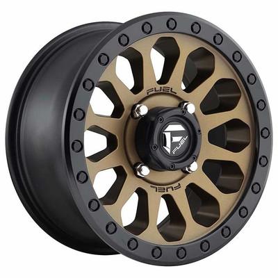 Fuel Offroad D600 Vector UTV Wheel 15X7 4X137 Matte Bronze Black Bead Ring D6001570A654