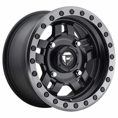 Fuel Offroad D557 Anza UTV Wheel 14X74X137 Matte Black Gun Metal Ring D5571470A654